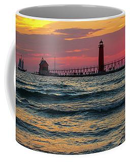 Grand Haven Pier Sail Coffee Mug