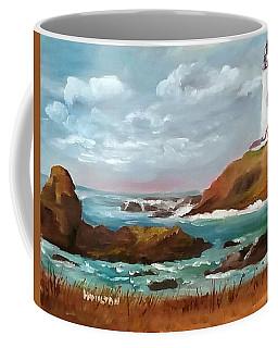 Grand Lighthouse Coffee Mug by Larry Hamilton