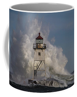 Coffee Mug featuring the photograph Grand Marais Light House by Paul Freidlund