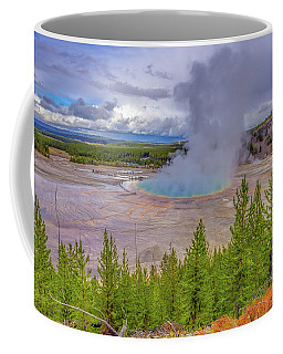 Coffee Mug featuring the photograph Grand Prismatic Spring Overlook Yellowstone by Scott McGuire