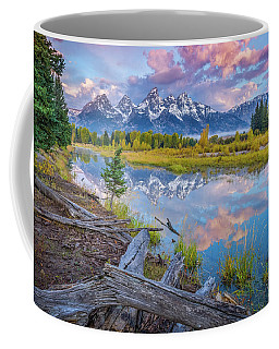 Coffee Mug featuring the photograph Grand Teton Sunrise Reflection by Scott McGuire