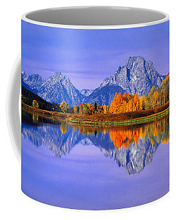 Grand Tetons And Reflection In Grand Coffee Mug