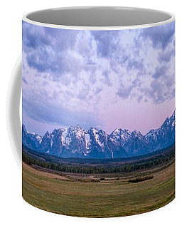 Grand Tetons Before Sunrise Panorama - Grand Teton National Park Wyoming Coffee Mug