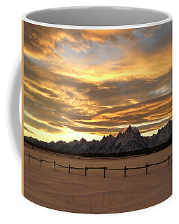 Grand Tetons In January Glory Coffee Mug