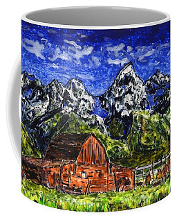 Grand Tetons With Buffalo Coffee Mug