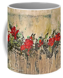 Coffee Mug featuring the painting Grandma Roses by AmaS Art