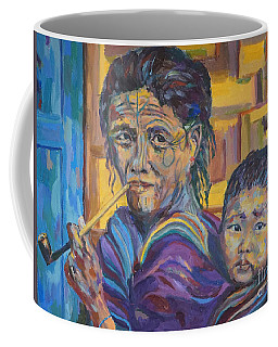 Grandmother And Child Coffee Mug by Michael Cinnamond