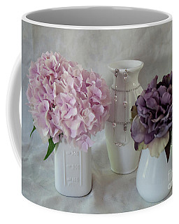 Coffee Mug featuring the photograph Grandmother's Vanity Top by Sherry Hallemeier