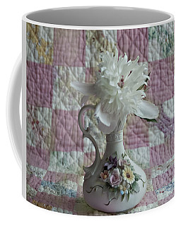 Grandmother's Vase And Her Son's Quilt Coffee Mug