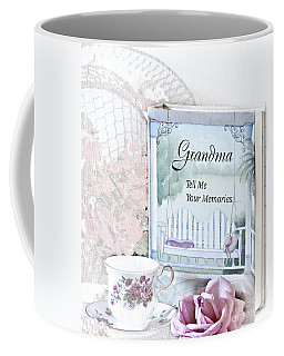 Grandmother...tell Me Your Memories Coffee Mug by Sherry Hallemeier