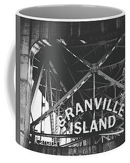 Granville Island Bridge Black And White- By Linda Woods Coffee Mug
