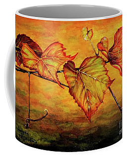 Grape Vine Coffee Mug by Judy Kirouac