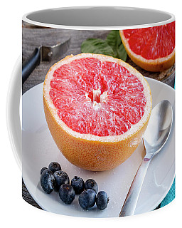 Grapefruit For Breakfast Coffee Mug by Teri Virbickis
