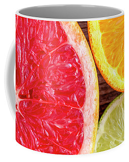 Grapefruit Orange Lime Coffee Mug by Teri Virbickis