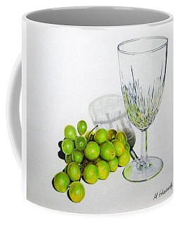 Grapes And Crystal Coffee Mug