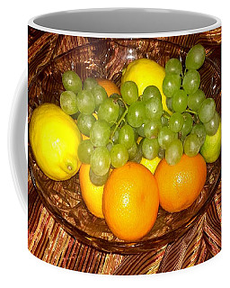 Grapes, Lemons, Mandarins And Lime  Coffee Mug