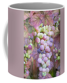Coffee Mug featuring the mixed media Grapes Of Many Colors by Carol Cavalaris