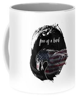 Graphic Art Free As A Bird Coffee Mug