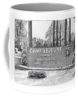 Graphite Camp Lejeune Welcome Coffee Mug