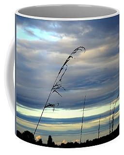 Grass Against Abstract Sky Coffee Mug
