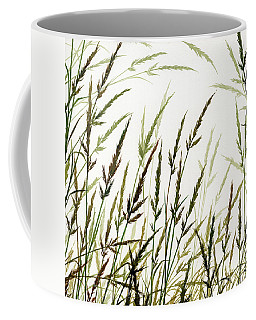 Coffee Mug featuring the painting Grass Design by James Williamson