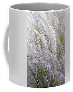 Coffee Mug featuring the photograph Grass Is More - Nature In Purple And Green by Ben and Raisa Gertsberg