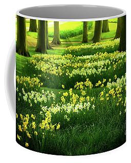 Grass Lawn With Daffodils  Coffee Mug