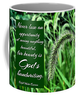Grass Seed Plume With Quote Coffee Mug