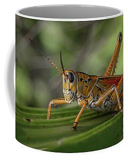 Grasshopper And Palm Frond Coffee Mug