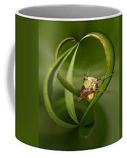 Coffee Mug featuring the photograph Grasshopper by Jouko Lehto