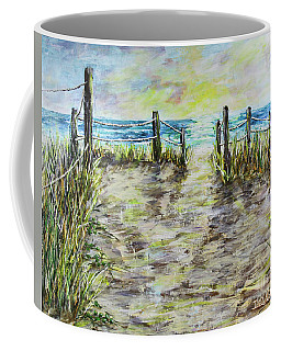 Grassy Beach Post Morning 2 Coffee Mug