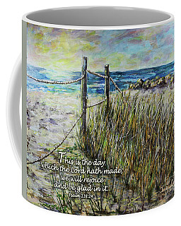 Grassy Beach Post Morning Psalm 118 Coffee Mug