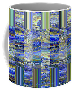 Grate Art - Blue And Green Images - Manipulated Photography Coffee Mug