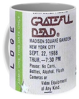 Coffee Mug featuring the photograph Grateful Dead - Loge Ticket by Susan Carella