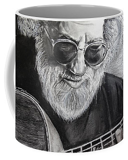 Coffee Mug featuring the drawing  Grateful Dude by Eric Dee