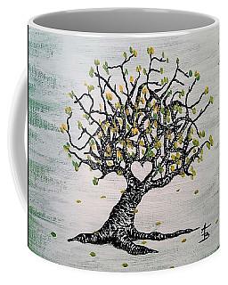 Coffee Mug featuring the drawing Grateful Love Tree by Aaron Bombalicki