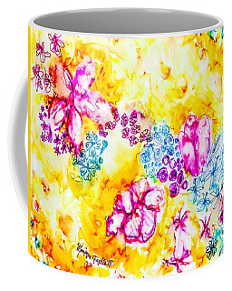 Coffee Mug featuring the painting Gratitude Blooms by Monique Faella