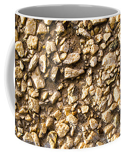 Gravel Stones On A Wall Coffee Mug by John Williams