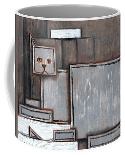 Tommervik Gray And White Cat Art Print Coffee Mug