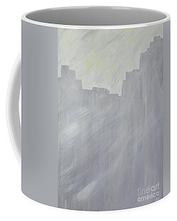 Coffee Mug featuring the painting Gray And Yellow by Barbara Yearty