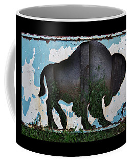 Coffee Mug featuring the photograph Gray Buffalo by Larry Campbell