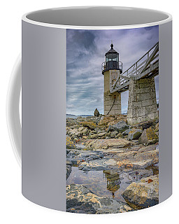 Coffee Mug featuring the photograph Gray Day At Marshall Point by Rick Berk