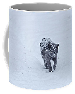 Gray On White Coffee Mug