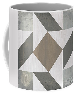 Coffee Mug featuring the painting Gray Quilt by Debbie DeWitt