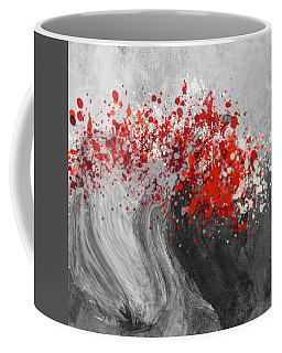 Gray Wave Turning Red Coffee Mug by Jessica Wright