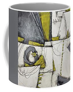 Gray, White, Green Gold  Coffee Mug