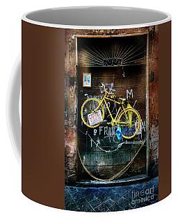 Grazie Yellow Bicycle Coffee Mug