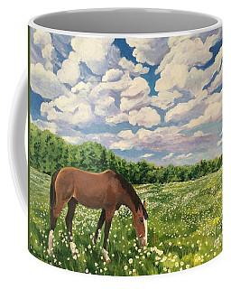 Grazing Among The Daisies Coffee Mug