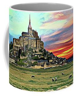 Grazing At Mont Saint Michel Coffee Mug