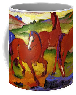 Grazing Horses Iv The Red Horses 1911 Coffee Mug